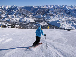 Spring skiing at Baldy in Sun Valley